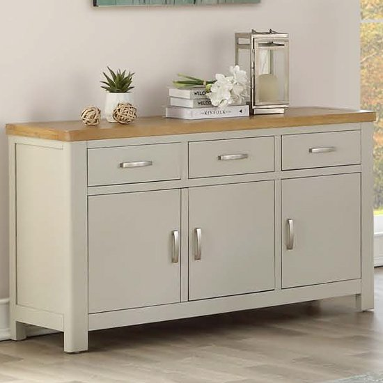 Areli Stone Painted Sideboard With 3 Doors And 3 Drawers
