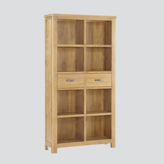 Areli Wooden Tall Bookcase In Washed Oak Finish