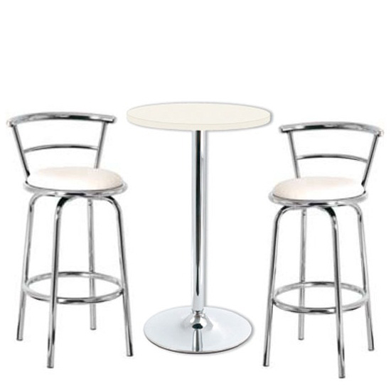modern off white revolving bar stool in faux leather buy modern bar stools furniture in fashion. Black Bedroom Furniture Sets. Home Design Ideas