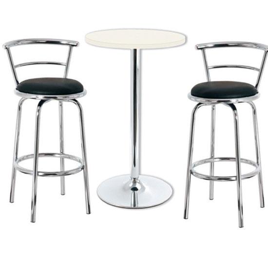 ares wht bar table blk stool - Trendy Bar Stools for Extraordinary Interior