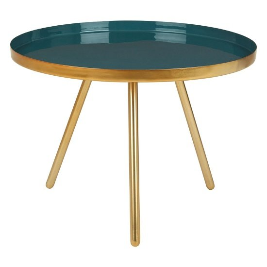 Argenta Large Diesel Side Table In Green And Gold