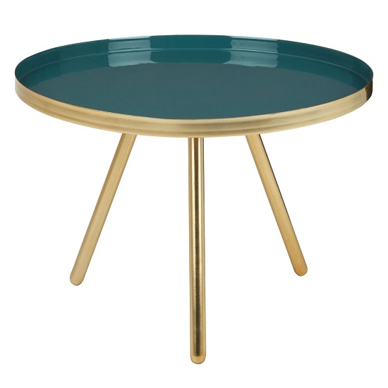 Argenta Small Diesel Side Table In Green And Gold