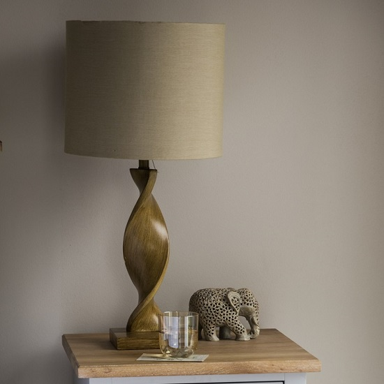 Argenta Table Lamp With Natural Linen Fabric Shade