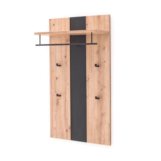 Argos Wooden Coat Rack In Planked Oak