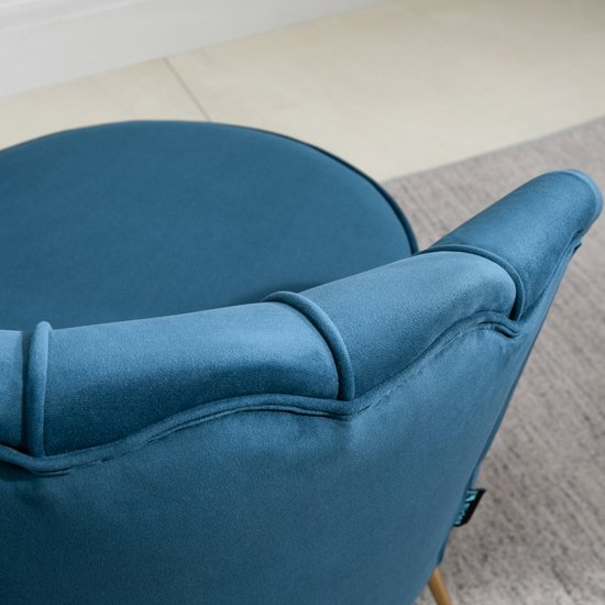 Ariel Fabric Upholstered Accent Chair In Blue_3