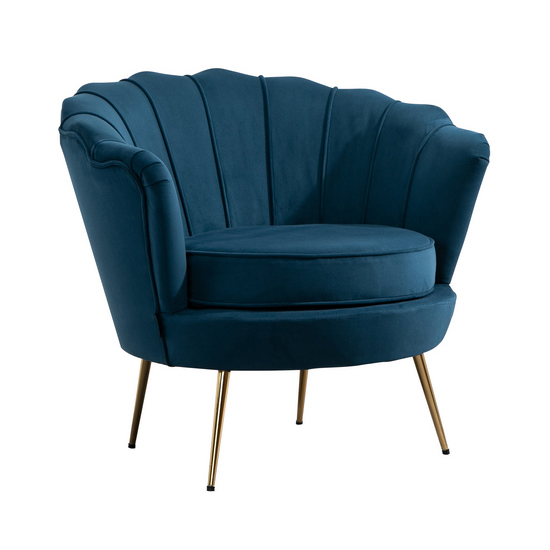 Ariel Fabric Upholstered Accent Chair In Blue_4