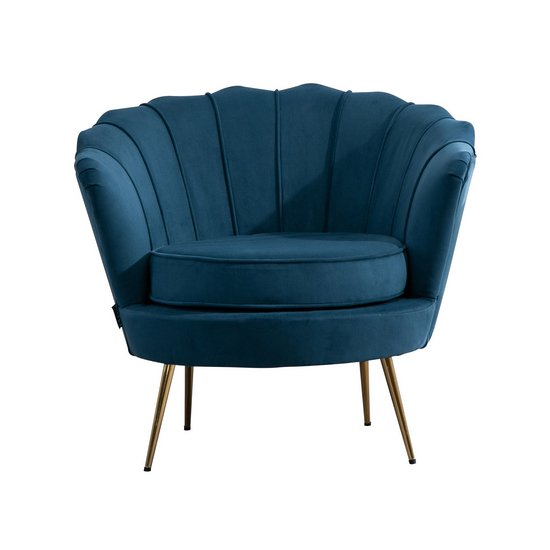 Ariel Fabric Upholstered Accent Chair In Blue_5