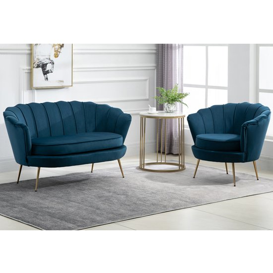 Ariel Fabric Upholstered Accent Chair In Blue_6