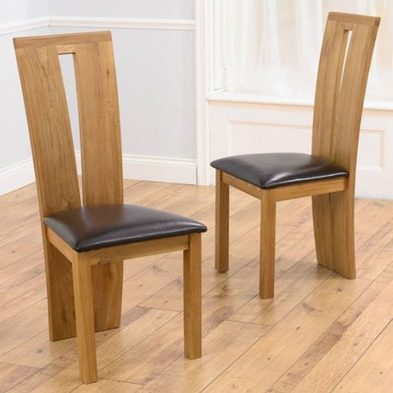 Arizona Brown Fabric Dining Chairs In A Pair