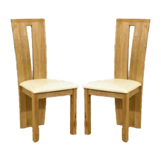 Arizona Cream Fabric Dining Chairs In A Pair_1