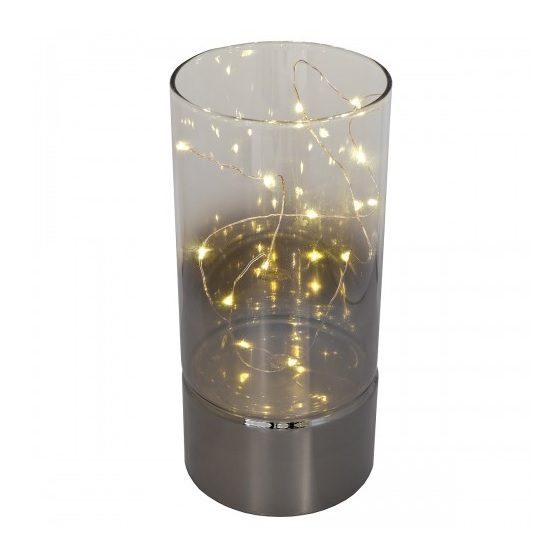 Photo of Arlington table lamp tall in led wire glass