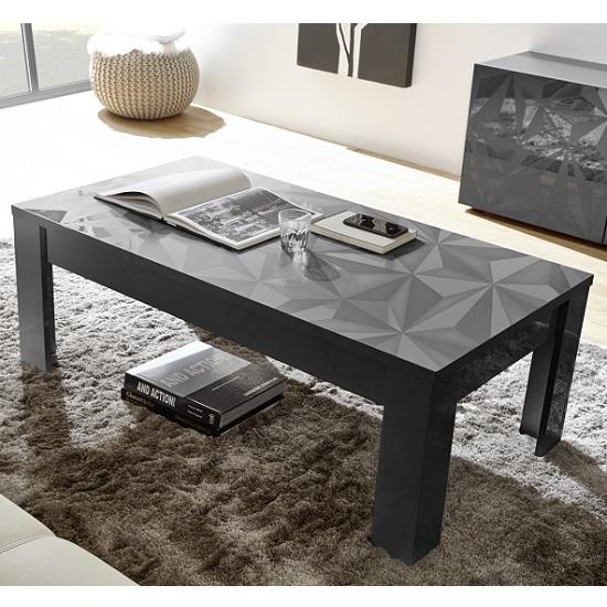 Grey High Gloss Coffee Table Uk: Arlon Modern Coffee Table Rectangular In Grey High Gloss