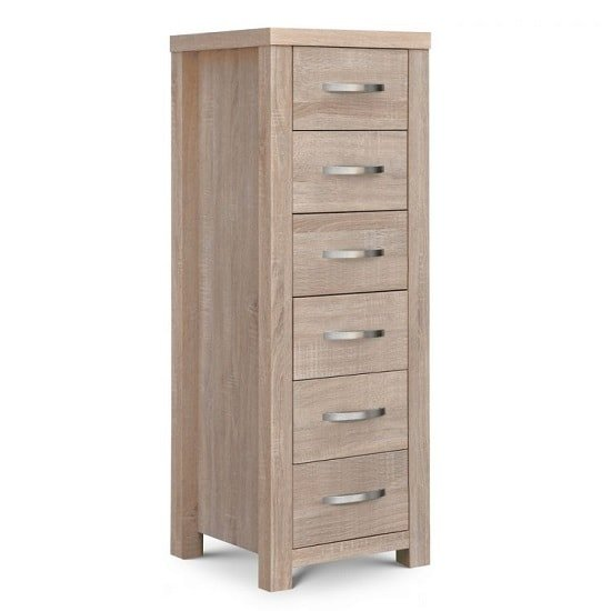 Armedia Chest Of Drawers Tall In Sonoma Oak With 6 Drawers