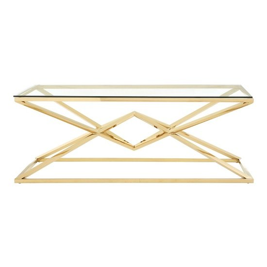 Armenia Glass Coffee Table With Champagne Gold Steel Frame_2