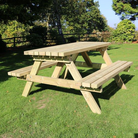 Arnos Deluxe Large Wooden Picnic Dining Set
