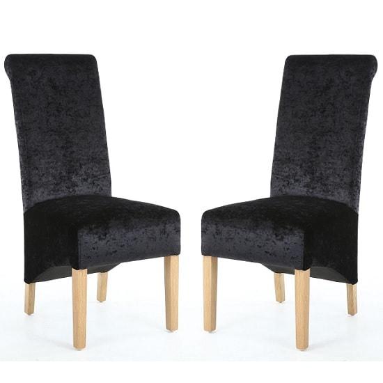 Paris Dining Chair Black Velvet Pair Of 2 : arorablackvelvetfabricchairpair min from goodshousehold.uk size 550 x 550 jpeg 30kB