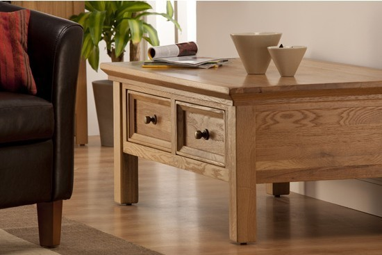 Oak Coffee Tables With Drawers
