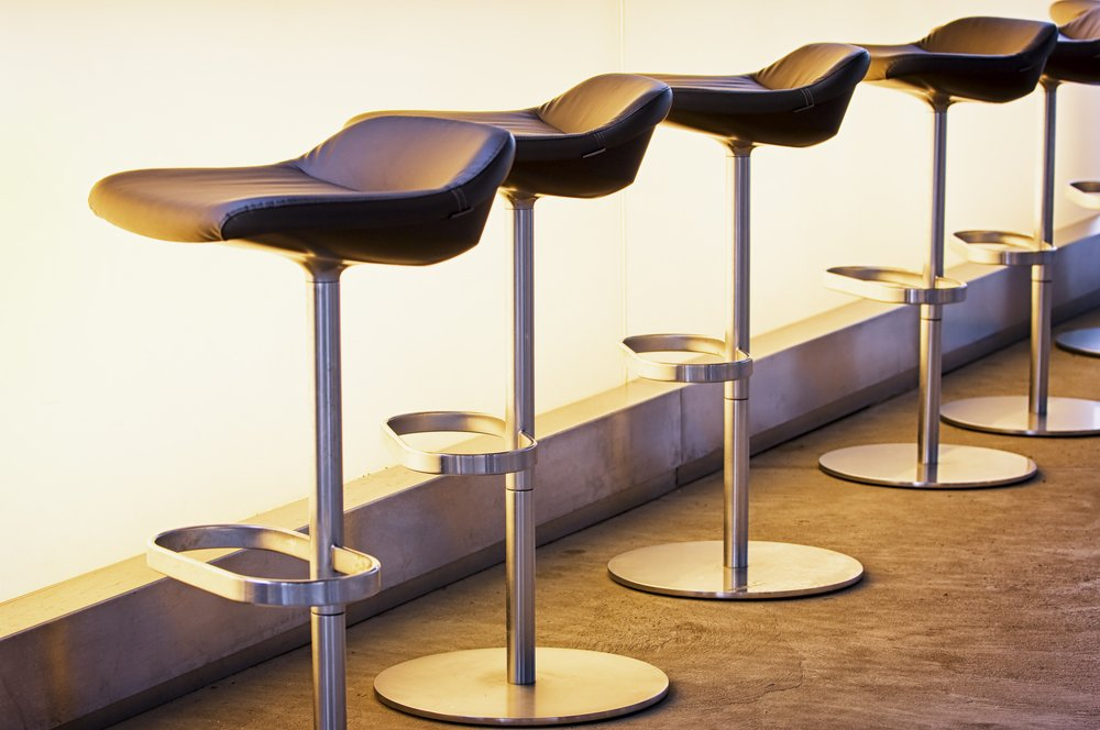 Sumptuous Leather Bar Stools