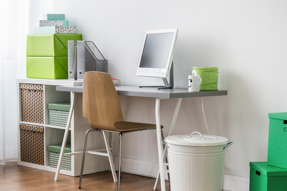 Metal corner desk for home office