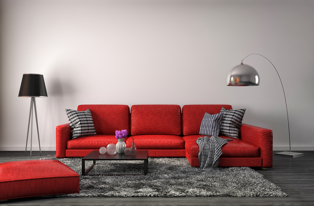 Factors to consider while buying living room furniture in red