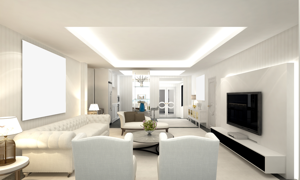 Modern white living room furniture for women