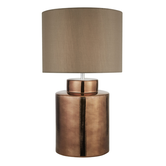 Artisan 1 Light Table Lamp In Bronze With Brown Shade_1