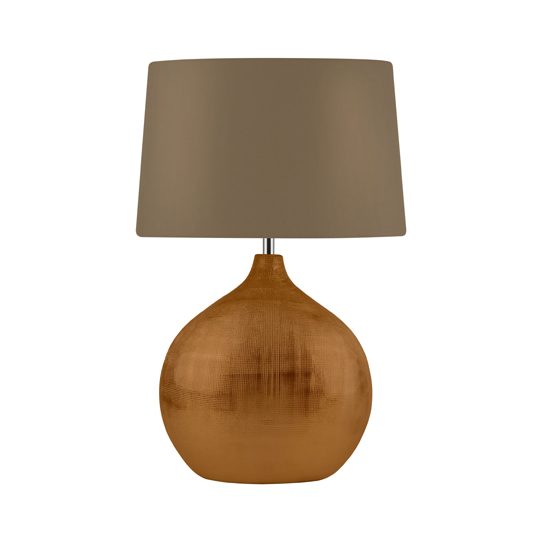 Artisan 1 Light Table Lamp With Bronze Round Base