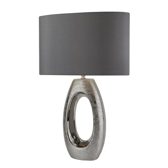 Artisan 1 Light Table Lamp With Chrome Oval Base