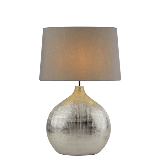 Artisan 1 Light Table Lamp With Chrome Round Base