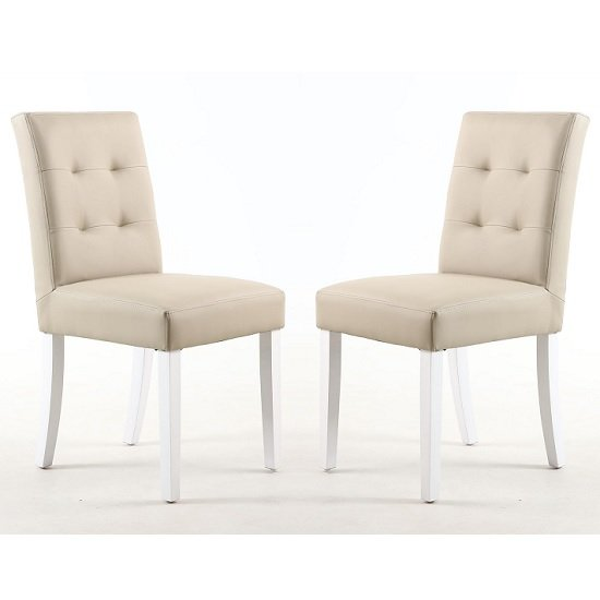 Admirable Artois Dining Chair In Ivory Matt Bonded Leather And White Legs Spiritservingveterans Wood Chair Design Ideas Spiritservingveteransorg
