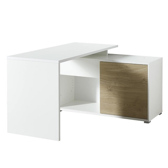 Artur Corner Computer Desk In White And Kendal Oak With Storage_1