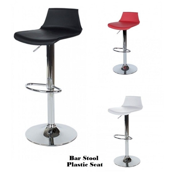 Arturo Padded Bar Stools In White With Chrome Base In A Pair_2