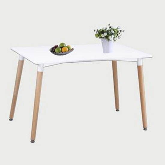 Arturo Small Bistro Dining Table In White With Beech Finish Legs_1