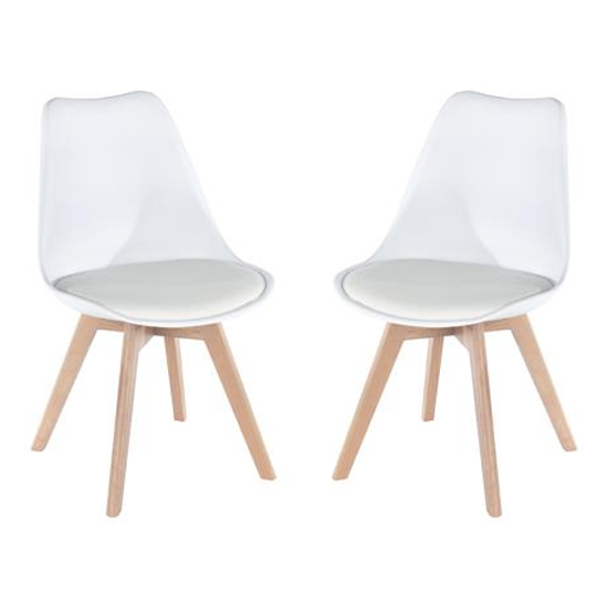 Arturo White Bistro Chair In Pair