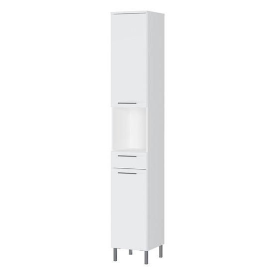 Arvada Tall Bathroom Storage Cabinet In White