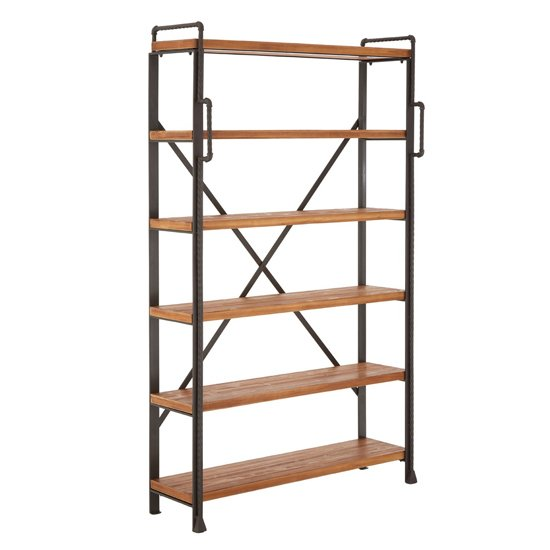 Ashbling 5 Tiers Wooden Shelving Unit In Natural