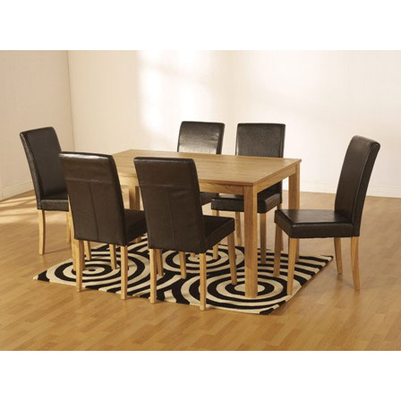 Ashbourne Dining Table Set With 6 Dining Chairs