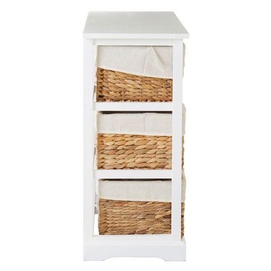 Ashbile Wooden 6 Drawers Chest In White     _3