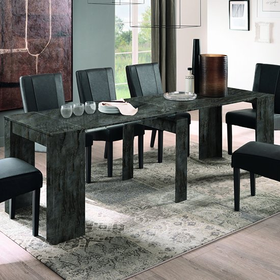 Aspen Large Extending Wooden Dining Table In Oxide