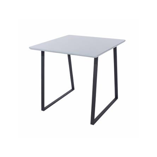 Arturo Square White Painted Top Dining Table With Wooden Legs
