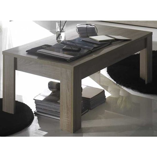 Product photograph showing Aspen Wooden Coffee Table In Sonoma Oak