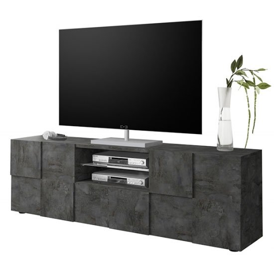 Aspen Wooden Large TV Stand In Oxide With 2 Doors 1 Drawer_3