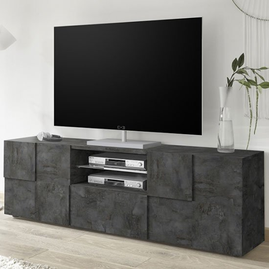 Aspen Wooden Large TV Stand In Oxide With 2 Doors 1 Drawer_1