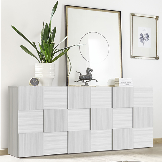 Aspen Wooden Sideboard In Matt White With 3 Doors