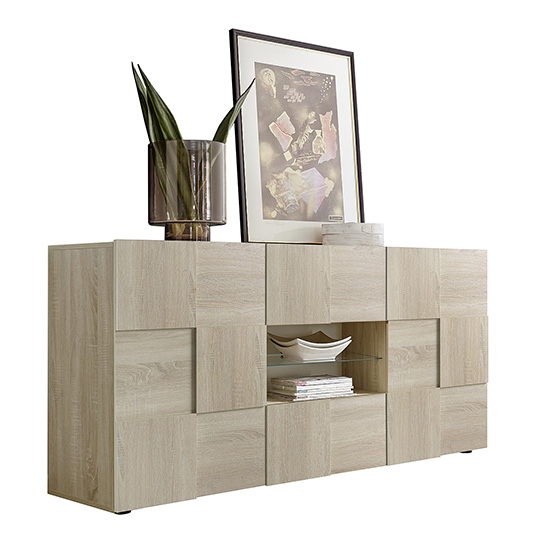 Aspen Wooden Sideboard In Sonoma Oak With 2 Doors 2 Drawers_3