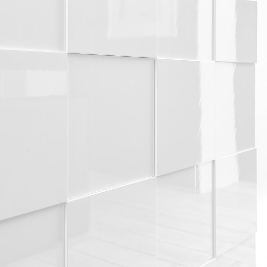 Aspen Modern Sideboard In White High Gloss With LED_4