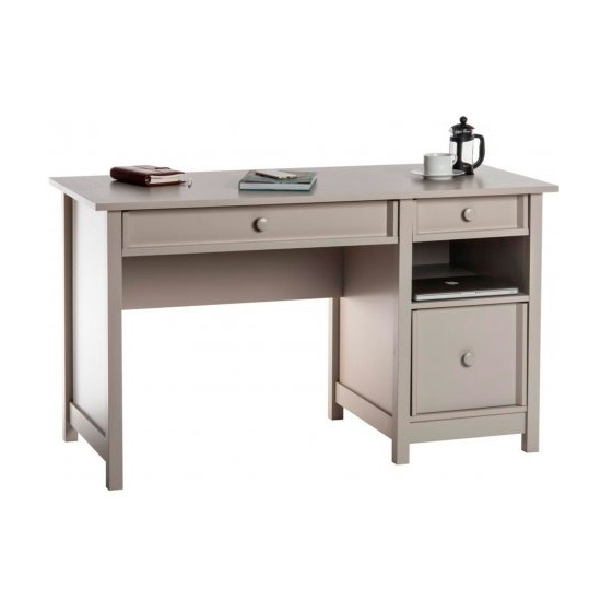 Aspire Home Office Computer Desk In Cobblestone Grey