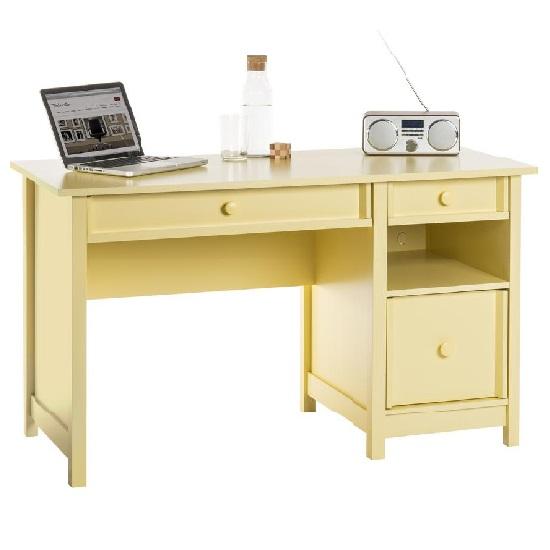 Aspire Home Office Computer Desk In Sherbert Yellow