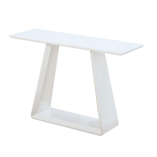 Astrik Console Table In White High Gloss