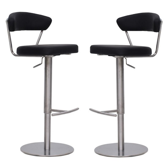 Astley Bar Stools In Black Faux Leather In A Pair_1